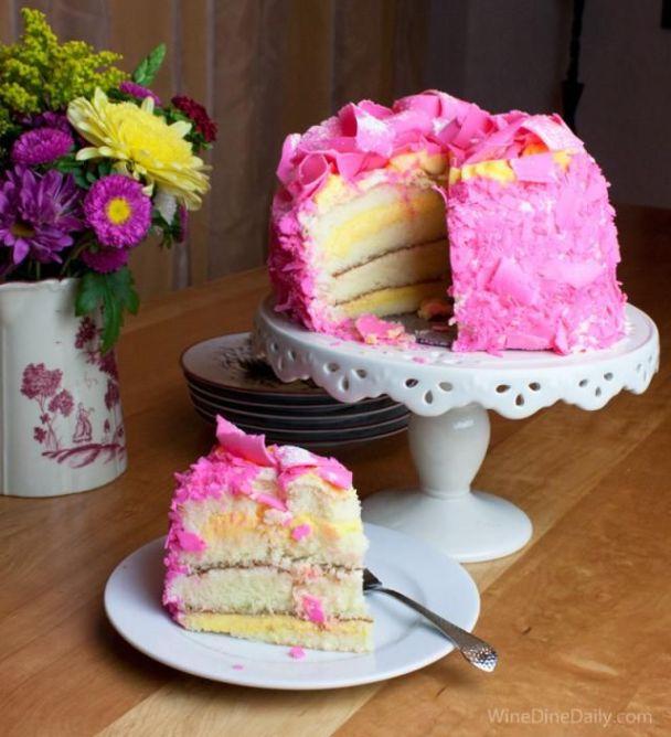 pinkchampagnecake