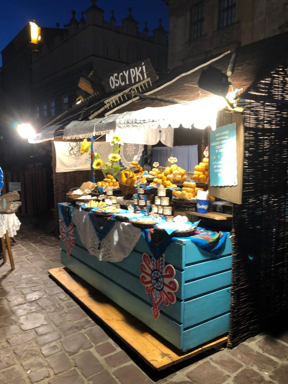 street food cheese krakow
